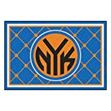 FANMATS NBA New York Knicks Nylon Face 5X8 Plush Rug