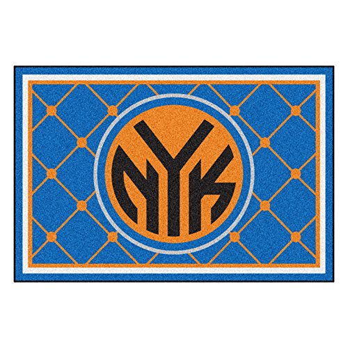 FANMATS NBA New York Knicks Nylon Face 5X8 Plush Rug by Fanmats