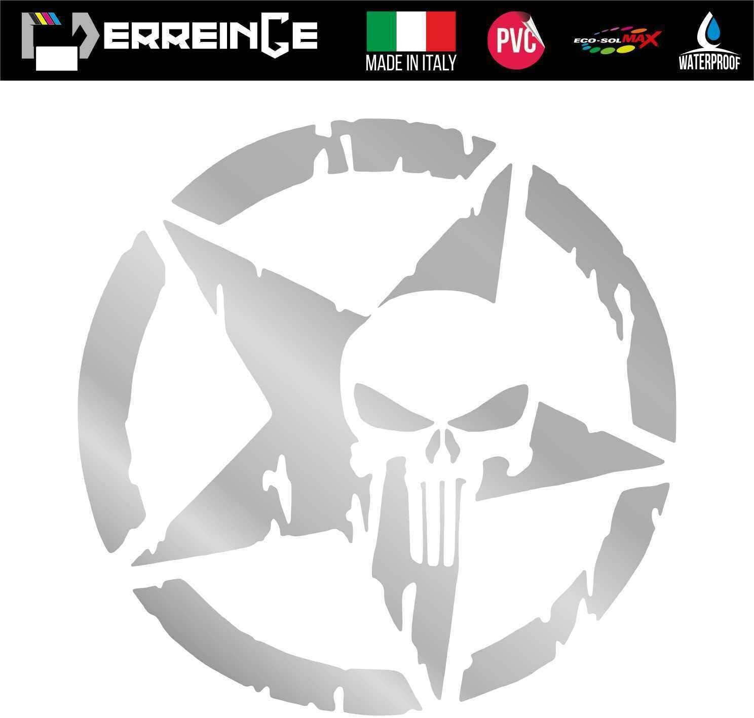 cm 15 erreinge Sticker Punisher MILIT/ÄRSTAR Army BLAU PVC vorbeabstandete Aufkleber f/ür Wall Decal Aufkleber Wall Car Motorrad Helm Camper Laptop