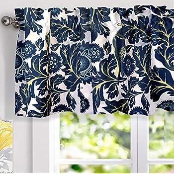 Amazon Com Lush Decor Dolores Valance Bird Floral Print