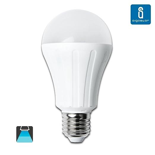 Aigostar Bombilla LED A65 de 15W, rosca grande y luz fría E27