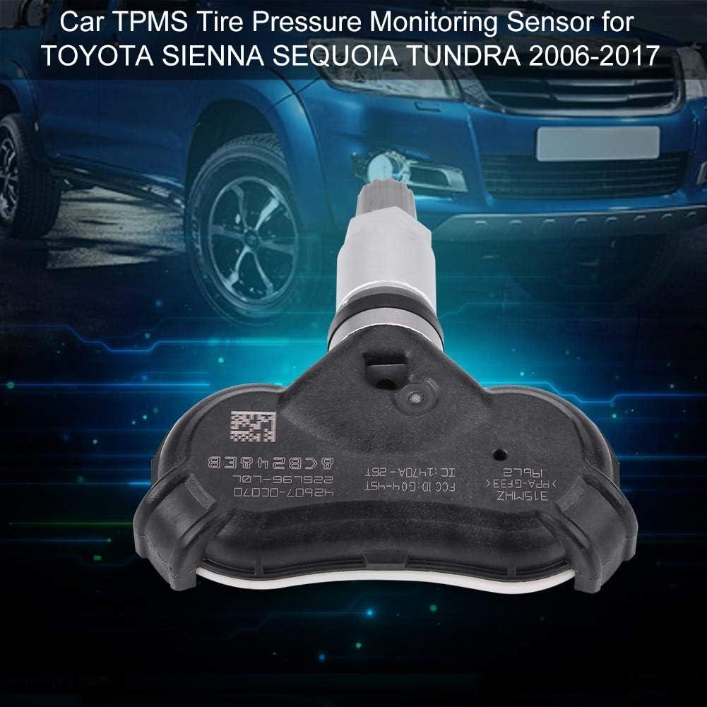 EMIAOTO Set 4 TPMS Sensor Valve SUB-Assy TIRE for 2007-2011 for Toyota Tundra Sienna Sequoia 42607-0C040 426070C040