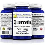 Mental Refreshment: Quercetin 500mg 200 Capsules (1 Bottle)