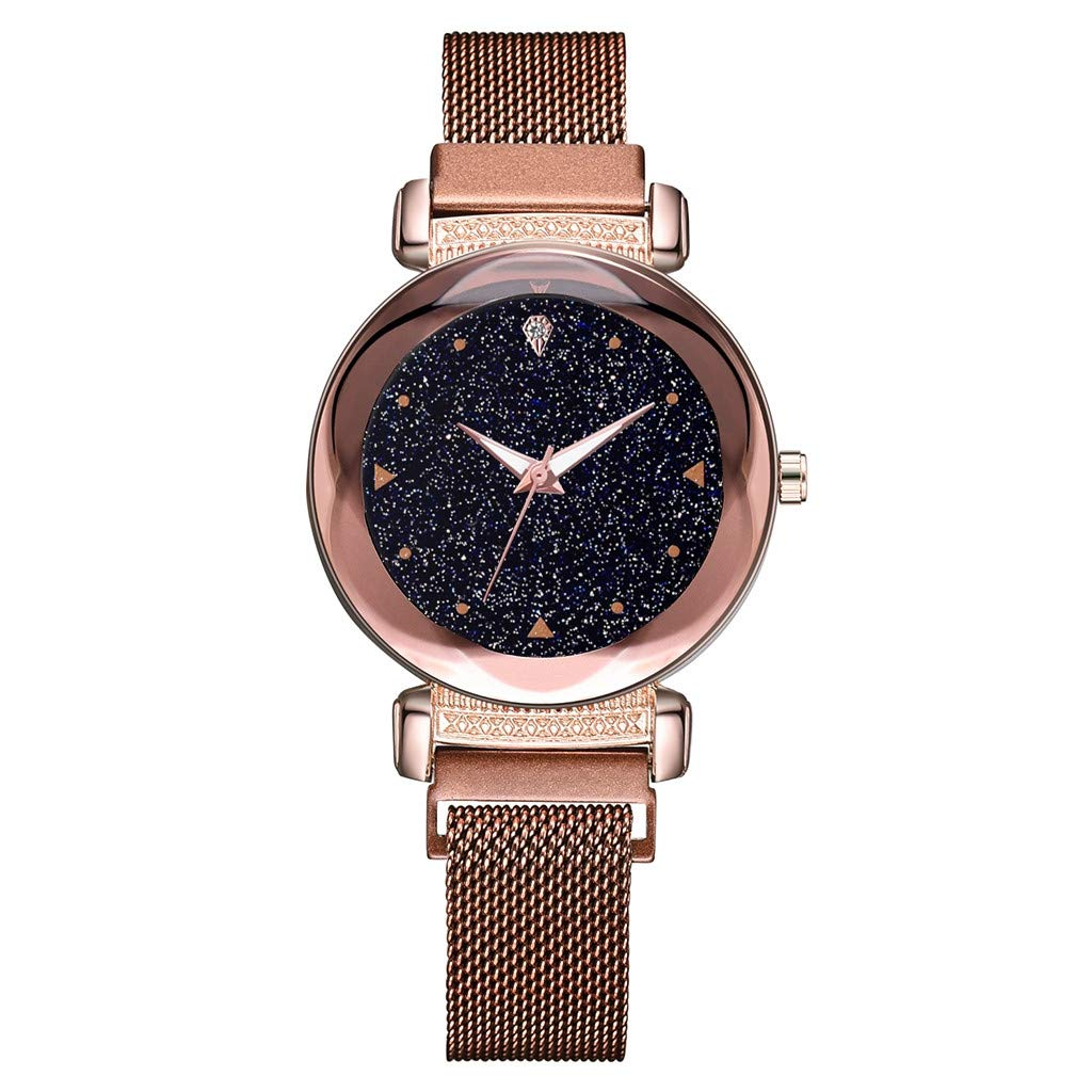 Amazon.com: Fashion Starry Sky Mosaic Diamond Quartz Mesh Belt Magnetic Buckle Ladies Watch