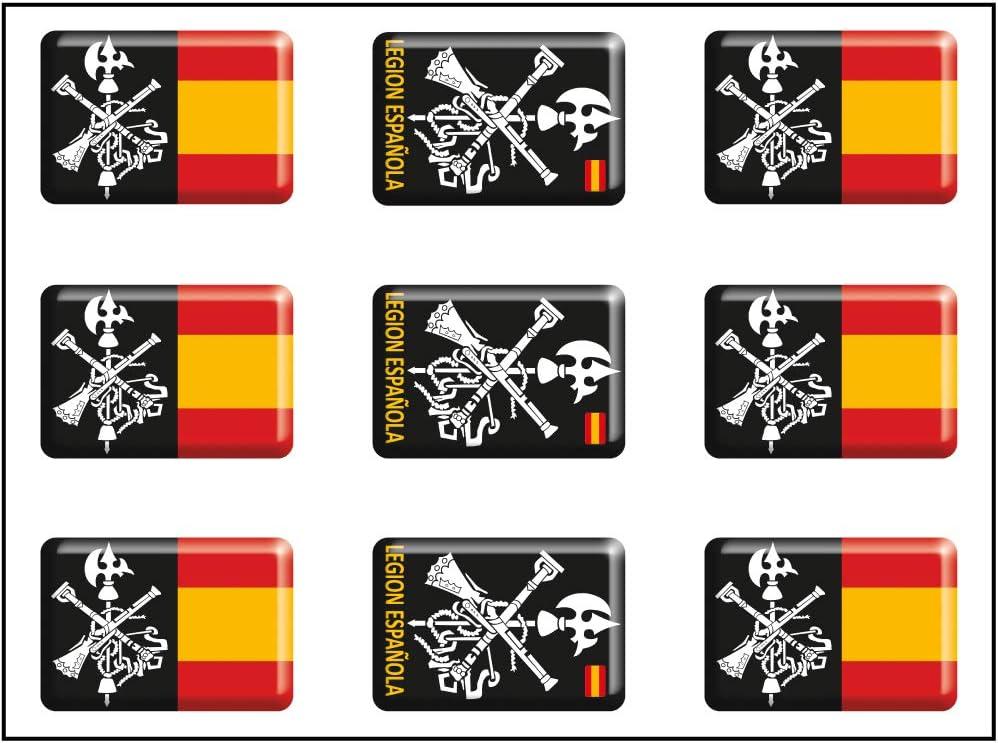 Artimagen Pegatina rectángulos Logo legión 9 uds. Resina 16x11 mm/ud.: Amazon.es: Coche y moto