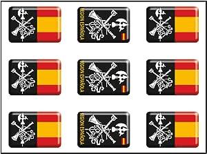 Artimagen Pegatina rectángulos Logo legión 9 uds. Resina 16x11 mm ...