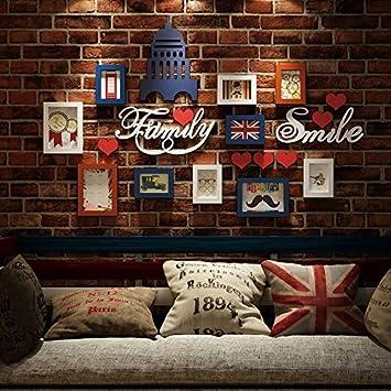 HJKY Foto Frame Wand Set Wandaufkleber 3d Würfel Zimmer Wandaufkleber  Wohnzimmer Restaurant Hintergrund Wandaufkleber Schlafzimmer Bedside
