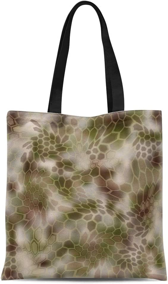 Semtomn Cotton Canvas Tote Bag Blue Still Life Peaches and Watermelon Oil on Canvas Reusable Shoulder Grocery Shopping Bags Handbag Printed