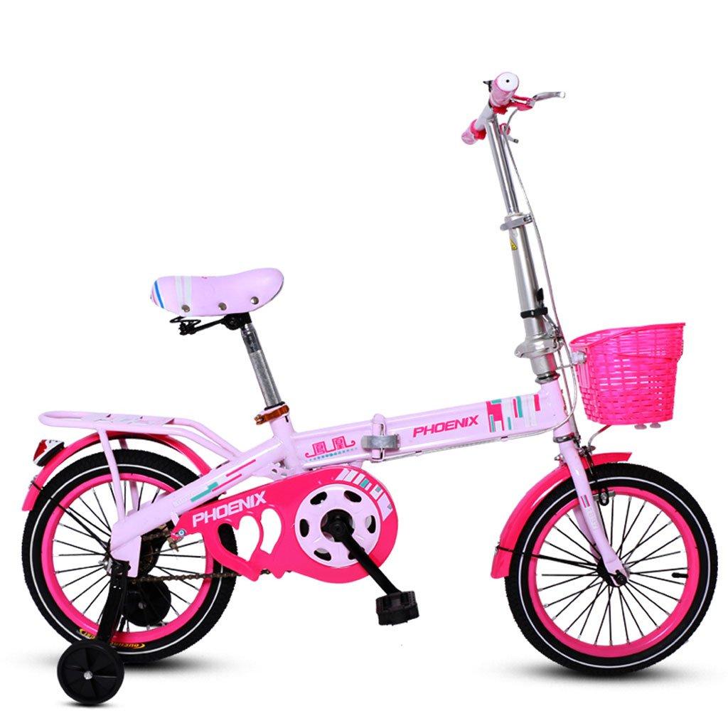 子供の折りたたみ自転車16インチの男の子と女の子の自転車6-10歳の女の子サイクリングピンク ( Color : Pink ) B07FGG3J79