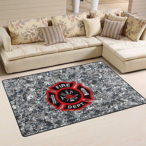Abbylife Fire Department Logo Firefighter Doormats Floor