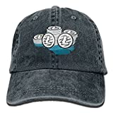 Cowboy Hat Top Litecoin Wallets Ltc Snapback Curved Baseball Hats 100% Cotton Adjustable Hip Hop Caps For Unisex Dad Cap - 8 Colors