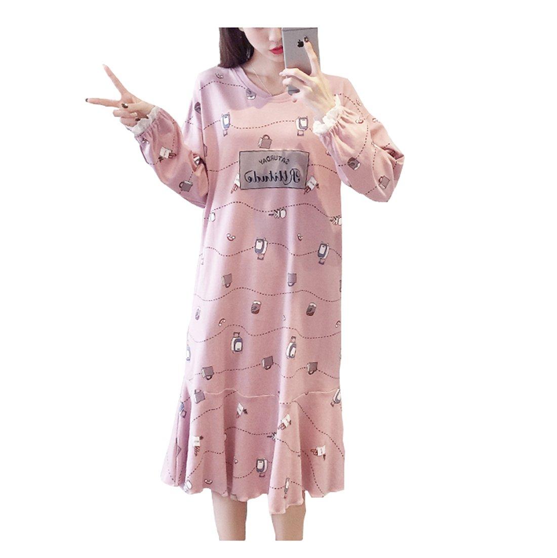 Respeedime SLEEPWEAR レディース B075ZVFWBJ L|ピンク ピンク L