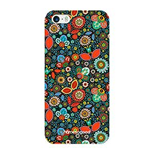 HomeSoGood Dotted Swiss Floral Pattern Multicolor 3D Mobile Case For iPhone 5 / 5S (Back Cover)