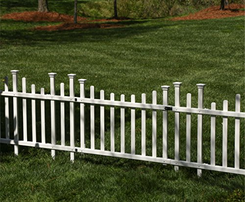 Zippity Outdoor Products ZP19028 Unassembled Madison Vinyl Gate Kit with Fence Wings, White by Zippity Outdoor Products (Image #4)