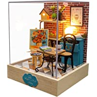 Generic DIY Wooden Miniature Dollhouse Kit for Self-Crafting & Decorating, Creative Mini Doll House Kit Set for Dolls…