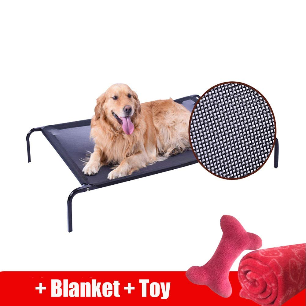M HR Medium-sized Large Dog Bed Kennel Four Seasons Universal Removable Washable Pet Bed Teddy golden Retriever Pet Nest Camping Bed (Size   M)