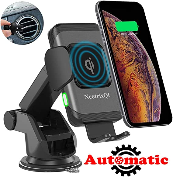10w Car Phone Wireless Fast Charger /& Holder For iPhone 8//Plus//X Samsung S6//8//9