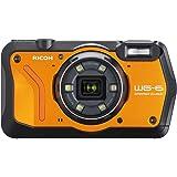 RICOH 防水デジタルカメラ WG-6 オレンジ 防水20m 耐ショック2.1m 耐寒-10度 耐荷重100kg リコー WG-6 OR 03851