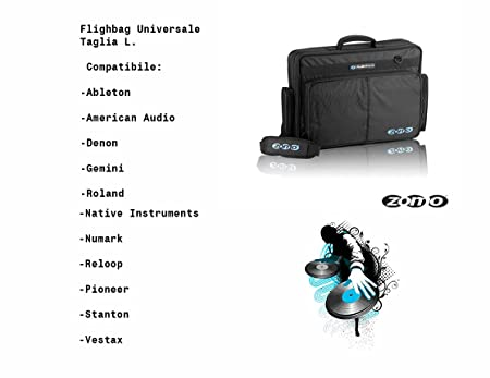 4a7592d7773 Zomo Flightbag Universal Size L Padded Bag, Reinforced with a Soul in Metal  and Water