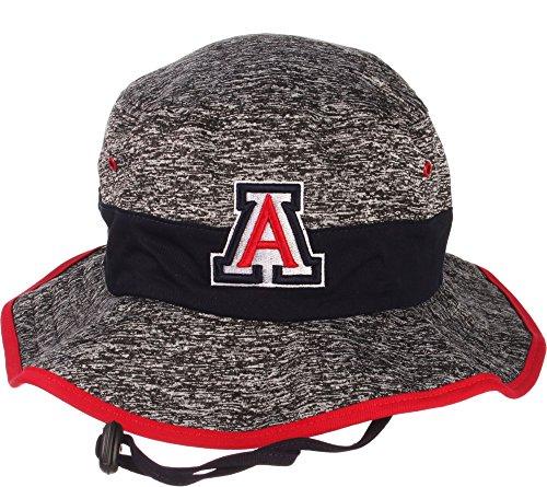 Bucket Wildcats (Zephyr Men's Arizona Wildcats Grey Under Bucket Hat - S)