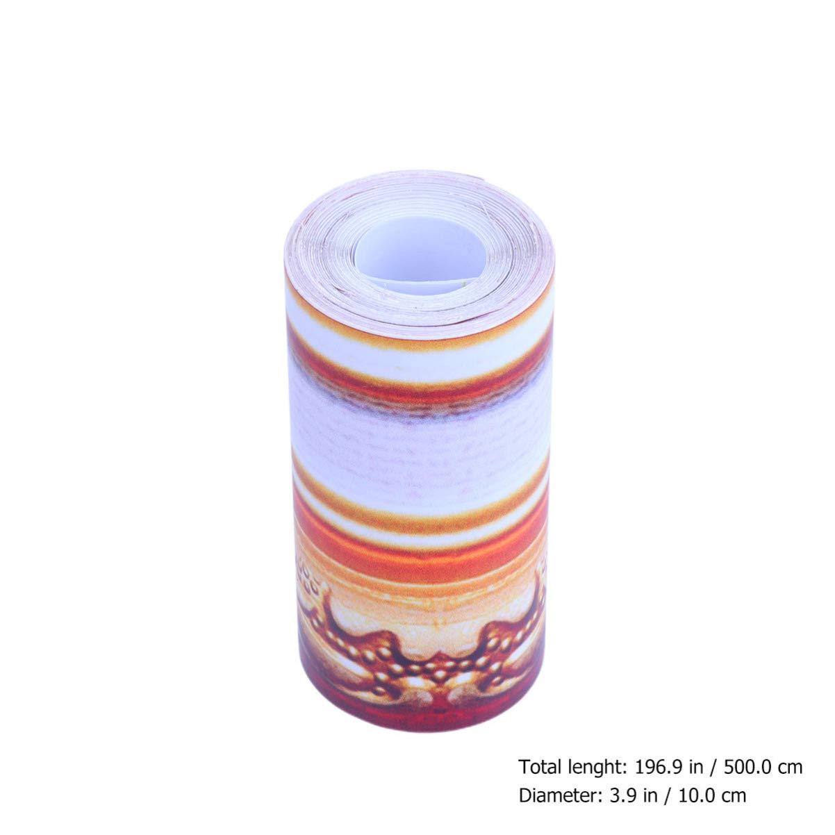 Color 1 Yardwe Borde de Pared Despegable Y Adhesivo Adhesivo Impermeable Autoadhesivo 3D Azulejos de Borde Adhesivo para Ba/ño Sala Cocina
