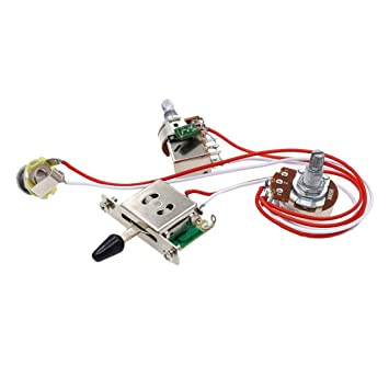 SM SunniMix kit de cableado de guitarra eléctrica 1 volumen 1 tono 3 interruptor de palanca
