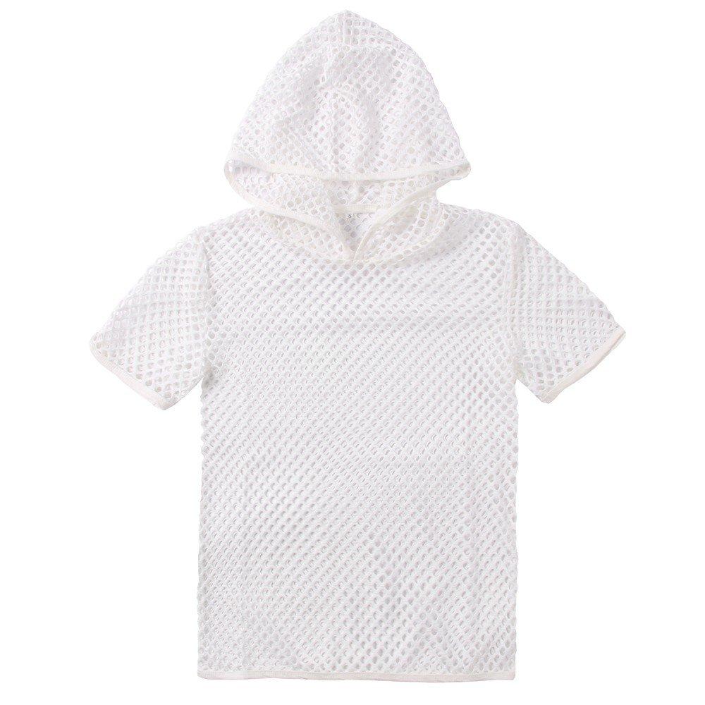 VRTUR Herren Shirt Netzhemd Netzshirt ohne Arm Ringershirt Unterhemd aus Mesh Transparent Unterw/äsche Stretch T-Shirt Tops S-XXL