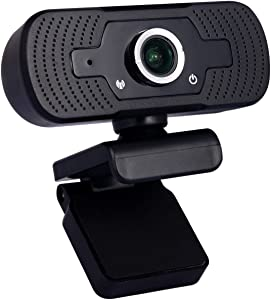 Full HD Webcam, 1080p Computer Camera with Microphone,Desktop or Laptop USB Webcam for Widescreen Video Calling Recording Conferencing Studying Online Class