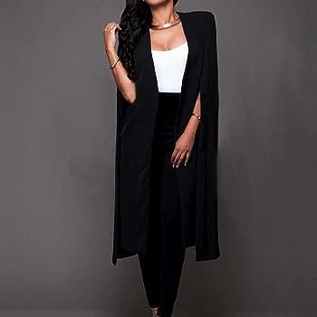 Women Coat Mujer Chica Suelta Capa Larga Blazer Chaqueta Capa de ...