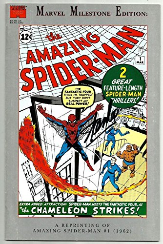 Stan Lee Signed Marvel Milestone Amazing Spiderman #1 Comic W/ Stan Le
