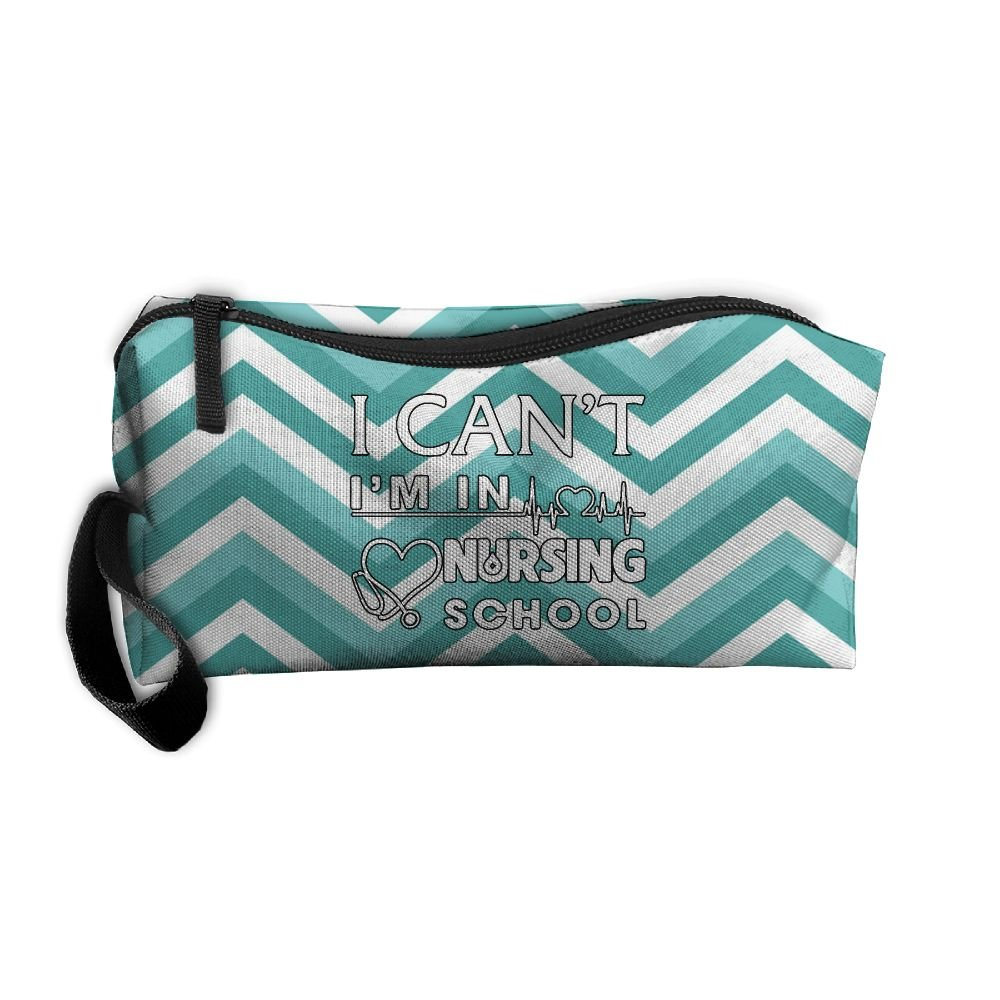I Can't I'm In Nursing School Nurse Travel Toiletry Bag Buggy Bag Organizers