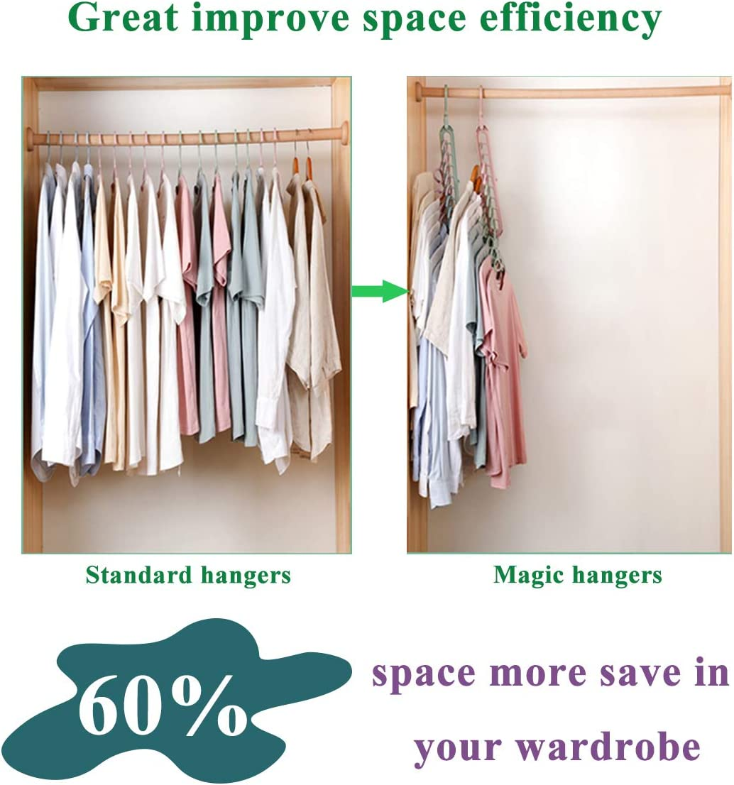 1PCS Space Saving Hanger Organizer Multi-Functional for Clothing Closet Wardrobe