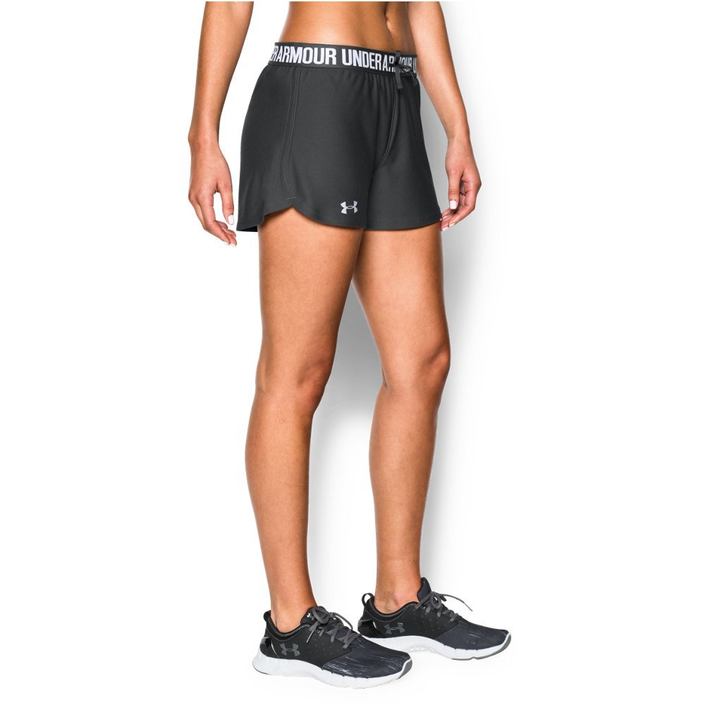 Under Armour Women's Play Up Shorts, Phantom Gray (003)/Metallic Silver, Medium by Under Armour