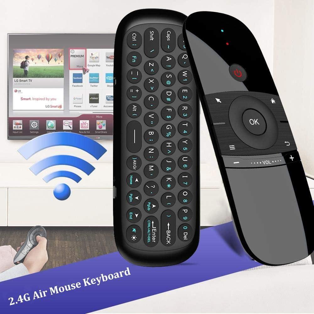 Teclado inalámbrico de 2,4 G con Mando a Distancia por Infrarrojos, 6 Ejes, Sensor de Movimiento, Receptor USB para Smart TV, Android, TV, Box, Ordenador portátil: Amazon.es: Electrónica