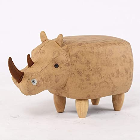 Awesome Amazon Com Qqxx Cartoon Rhinoceros Animal Soft Pouffe Ocoug Best Dining Table And Chair Ideas Images Ocougorg