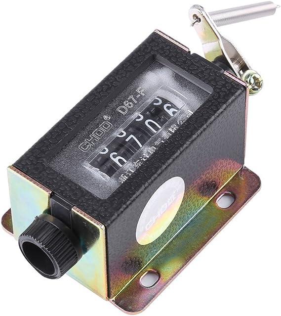 Sourcingmap a10100400ux0196 Recuento mano 5 n/úmero de d/ígitos contador arithmometer mec/ánica