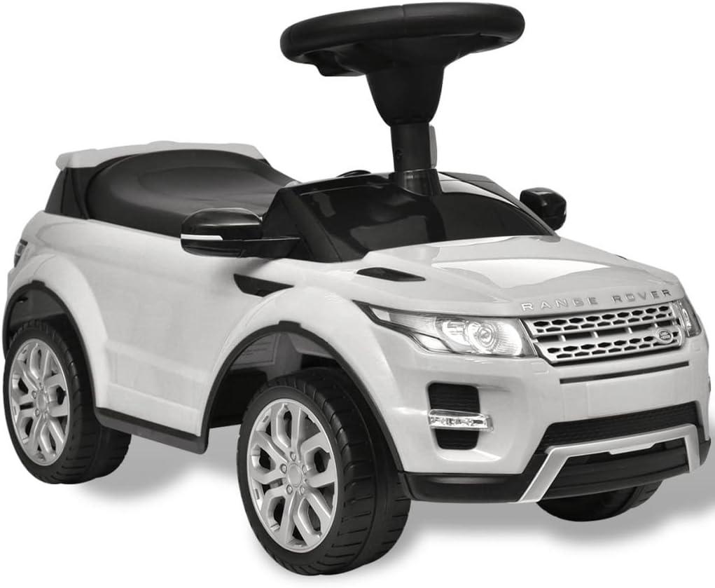 SOULONG Coche eléctrico para niños - Coche de Juguete Blanco con música, Modelo Land Rover 348