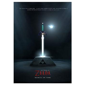 GWD CONCEPT Master Sword Metal Poster para Zelda Fans Mural ...