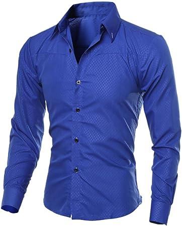 Hombre Camisa Slim Fit Modello STRIR Camisa algodon Hombre, Manga Larga, Slim Fit, Camisa Elástica Casual/Formal para Hombre (Azul, M): Amazon.es: Hogar