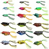#5: Croch Hollow Body Frog Lure Weedless Topwater Kit (18 PCS)
