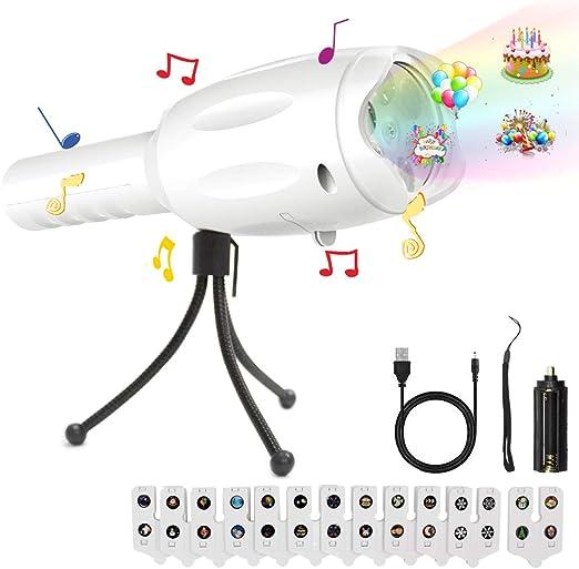 Linterna Proyector Musica, Tronsnic LED Linterna Y Proyector Con ...