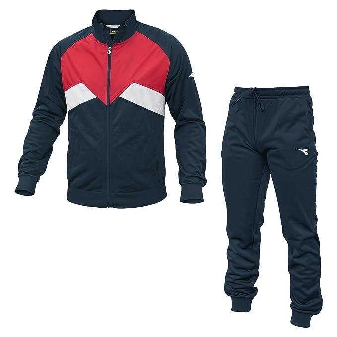 Diadora - Cuff Suit Pl Tuta Uomo Rossa e BLU - M, Azul: Amazon.es ...