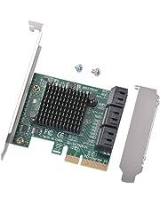 XCSOURCE PCI-E to SATA 3.0 Three Generations PCIE SATA3 Expansion Card 6-Port IPFS AC1723