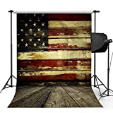 Kooer 5x7ft The Old American Flag Photography Backdrops The Vintage Stars And Stripes Photography Backgrounds Photo Studio Prop Baby Children Family Photoshoot Backdrop Customized Various Size