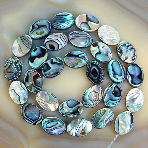 AD Beads Natural Abalone Shell Gemstone Beads 15.5