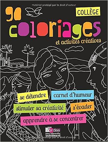 Téléchargement Cahier de coloriage - Collège pdf