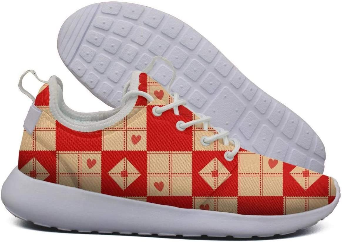 Opr7 Blue Red Chess Board Diamond Lightweight Running Shoes for Mens Sneaker Travel Comfort