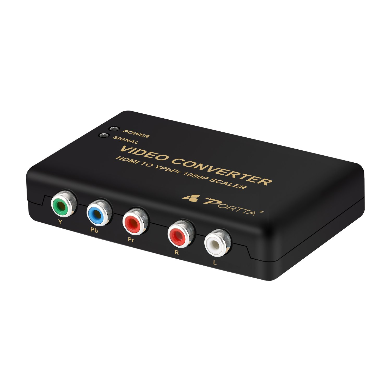 Portta HDMI to VGA+YPBPR Converter Adapter HDMI to VGA/Ypbpr+R/L/SPDIF converter 1080p Video Audio RCA L/R 1080P N3CHVRT
