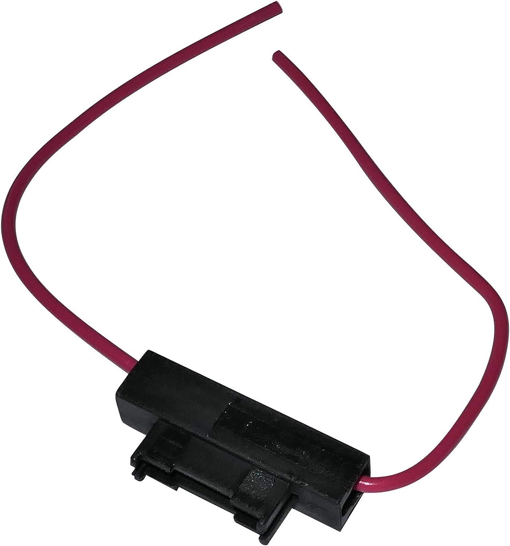 Aerzetix C10029 Sicherungshalter Flacher Sicherungssockel 19mm Midi 5a 0 75mm Rot Auto