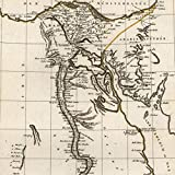 Egypt North Africa Nile Red Sea 1804 Tardieu scarce